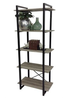 ECHO BAKERS 4 TIERS NAROW RACK BOOKSHELF STAND- 1730(H) X 600(W) $179 Ladder Bookcase, Bookshelves, Decorating On A Budget, Cleaning Wipes, Remodeling, Thoughts, Pictures, Shopping, Home Decor
