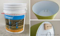 Turn Old Buckets Into Wall Shelves