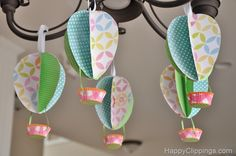 DIY: Springtime Paper Hot Air Balloons