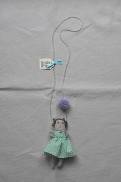 Polka dot puppet necklace from ESZTERDA