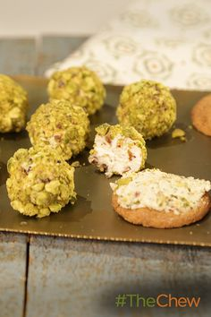 Everyone loves a cheese ball! Make these Mini Pistachio Cheese Balls for your next party!