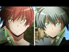 Assassination Classroom Karma Akabane vs Nagisa Shiota episode 18 season 2 final season face off fight<-- I just watched this and just now reliezed that the leader of the blue team has blue hair and the leader of the red team has red hair :O Anime Meme, Manga Anime, Anime Guys, Anime Art, The Assassin, Karma Y Nagisa, Karma Kun, Assassination Classroom Karma, Sweet Pictures