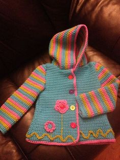 Ravelry: Project Gallery for Crochet Springtime Friends Hoodie pattern by Anji Beane