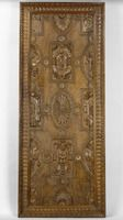 Pair of doors with the cyphers of Henri II and Catherine de Medici.Catherine de Medici, heir to the titles of her mother, Madeleine de La Tour d'Auvergne, became Dame de Clermont in 1551. The two doors were made for a house built in 1557 in Clermont- Ferrand that no longer stands.