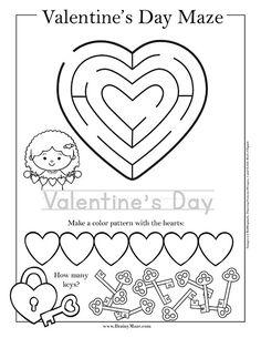 Valentine's Day Worksheets. Preschool and Kindergarten