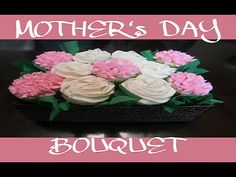 HOW TO MAKE Flower CUPCAKES Bouquet Basket    BUTTERCREAM ROSES
