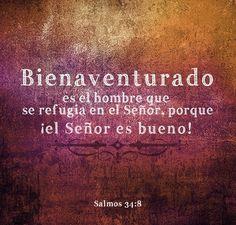 .Salmos 34:8 #Versiculos - #Bible - #Dios