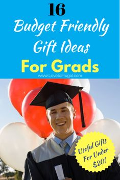 16 Of The Best Frugal Graduation Gift Ideas - Love To Frugal Homemade Recipe Books, Money Management Books, Financial Quotes, Best Blogs, Graduation Gifts, Graduation Ideas, Practical Gifts, Budgeting Tips, Money Saving Tips