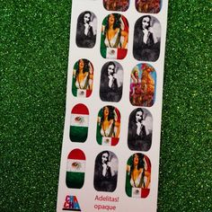 Adelita Mexican Nail Decals viva mexico by chachacovers on Etsy