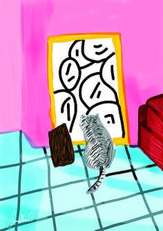 A Cat Who Loves Art (Sara Ottavia Carolei)