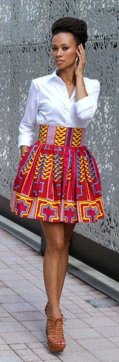 Tribal High Waisted Skirt