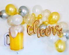 Beer Birthday Party, 30th Party, 30th Birthday Parties, Birthday Party Themes, Birthday Ideas, Man Birthday, Birthday Cakes, Beer Party Decorations, Beer Party Themes
