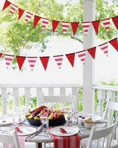 Flag Streamer Template - Brighten up an outdoor birthday bash with festive homemade streamers.