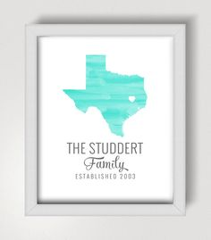Customized Digital State Print - Perfect for a Housewarming Gift!