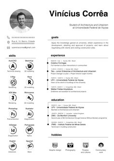 Resume Curriculum Vitae Architecture Urbanism - - If you like this design. Check others on my CV template board :) Thanks for sharing! Architect Career, Architect Resume, Architect Logo, Architect House, Portfolio D'architecture, Portfolio Resume, Portfolio Examples, Graphic Design Resume, Resume Design Template