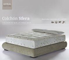 Colchón Sfera elaborado con 4 materias primas naturales.