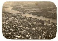 stamp and postcard: The look of Bratislava 2.16.circa 1967 pohlad z vysky dunaj.hrad