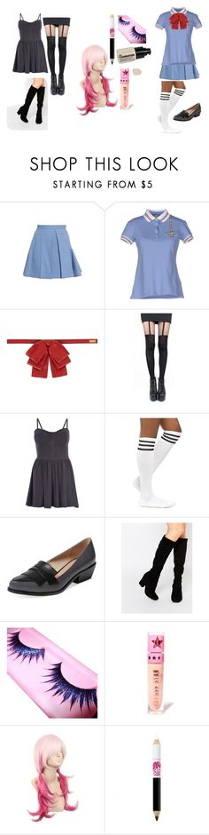 """Quick & easy cosplay - Yuno Gasai"" by come-and-join-the-freakshow ❤ liked on Polyvore featuring Julien David, FAY, Yves Saint Laurent, Pretty Polly, Madam Rage, Pure Navy, Faith, Jeffree Star and Maybelline"