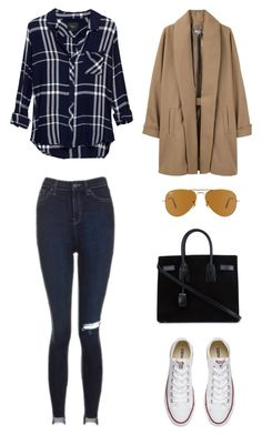 """Untitled #757"" by gigi3646 ❤ liked on Polyvore featuring Rails, Topshop, Converse, Surface To Air, Yves Saint Laurent and Ray-Ban"