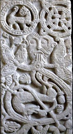 Saxon Slab, St Peter's Church, Northampton by mervyn_w, via Flickr Anglo Saxon History, British History, Vikings, Ancient Art, Ancient History, Anglo Saxon Tattoo, Viking Knotwork, Germanic Tribes, Viking Age