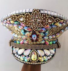 Rainbow jewel captain hat