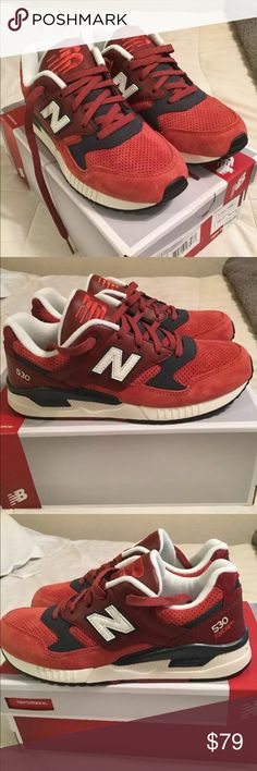 Women's New Balance red leather/suede sneaker 7.5 Never worn beautiful NB Red with leather accents. All sales are final. New Balance Shoes Athletic Shoes