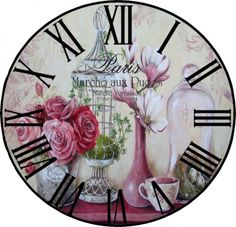 Decoupage Vintage, Vintage Crafts, Vintage Maps, Vintage Clocks, Clock Art, Diy Clock, Clock Face Printable, Watch Diy, Wood Clocks