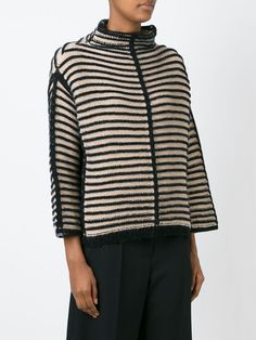 Antonio Marras contrasting striped sweater knit inspiration for scandi chic , japanese minmalist style autumn winter 2016 fashion looks