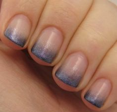 Sparkle gradient gel manicure.  Going to try this next time so my new growth doesn't look so ridiculous