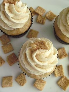 Cinnamon Toast Crunch is the best cereal, so why would these not be the best cupcakes (plus it uses a cake mix so I can actually make these)