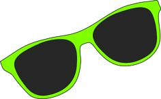 sunglasses | Green Sunglasses clip art