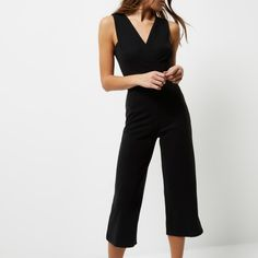 cbd7f42365a Checkout this Black plunge V-neck jumpsuit from River Island Jumpsuits For  Women