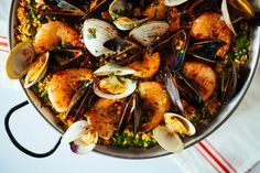 Seafood and Spinach Paella