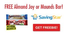 SavingStar Friday Freebie: Almond Joy or Mounds Candy Bar!