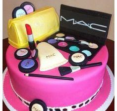 Mac makeup cake!!!!!  soooo cool