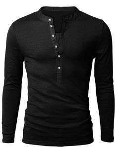 Slimming Trendy VNeck Button Design Fabric Splicing Long Sleeve Polyester Polo Shirt For Men is part of Mens tshirts - Polo Fashion, Mens Fashion, Style Fashion, Fashion Styles, Fashion Suits, Fashion Top, Fashion Wear, Best Polo Shirts, Men's Shirts