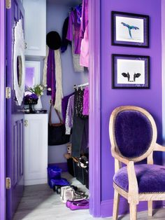 An interesting closet storage idea... Teen Girl's Closet Makeover : Rooms : Home & Garden Television