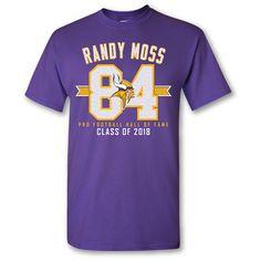 a776d98a135 Randy Moss Minnesota Vikings HOF Mens XL Purple Short Sleeve T Shirt #HOF  #GraphicTee