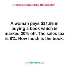 Practice Exam, Sales Tax, Algebra, Mathematics, Read More, The Book, This Or That Questions, Woman, Learning