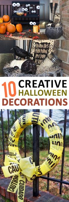 These great ideas will help you create spooktacular Halloween decorations! #diyhalloweendecorations