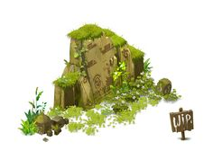 Colline / Hill - Dofus ... WIP by ~Weequays on deviantART