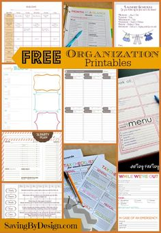 Get off to a great (and organized) start in 2015 with these free organization printables...laundry schedule, Christmas organizer, party planner, and more!