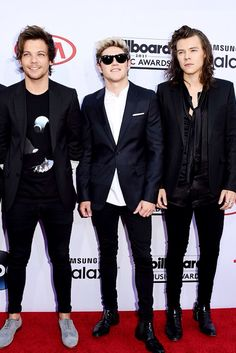 Louis Tomlinson, Niall Horan, Harry Styles Billboard Awards '15