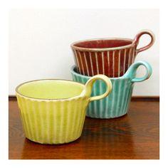 写真 カラー縞モダンマグカップ(益子焼)