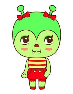 Wizzi // Missiku Whitey #caterpillar #illustration #characterdesign