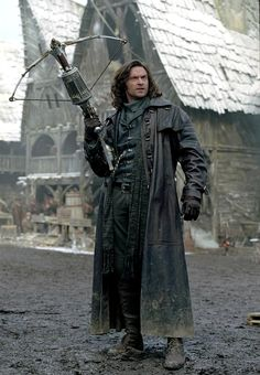 Hugh Jackman as Van Helsing.  awesome crossbow, but where's the hat?