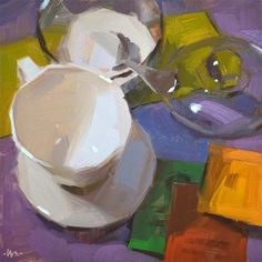 "Daily Paintworks - ""Tea To Be"" - Original Fine Art for Sale - © Carol Marine"
