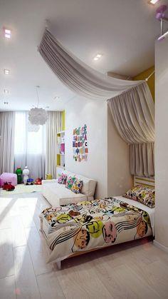 Im Mädchenzimmer ein Himmelbett gestalten
