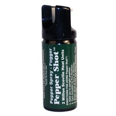 A 2 oz. Pepper Shot™ Pepper Spray Fogger with Identifying Dye and Safety Lock contains 6-10 one-second bursts and has an effective range of 10-15 feet.   Remember, the aim is to escape, not to fight or to stick around and punish the attacker, he may have accomplices, he may have a hidden weapon. So, spray the pepper spray and then run away to Safety. Don't stand around looking at your handy work.