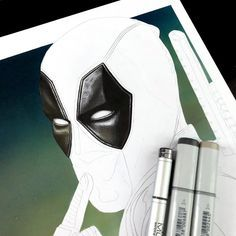 WIP_DeadpoolTime to add some red to this #deadpool #deadpool2 #ryanreynolds #marvel #draw #drawing #art #copic #copics #copicsketch #copicmarkers #copicart #marveluniverse